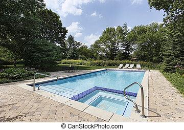 piscina, sauna