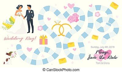 placa jogo, modelo, casório