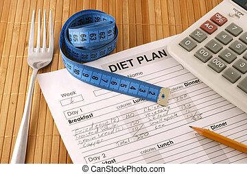planificação, diet.