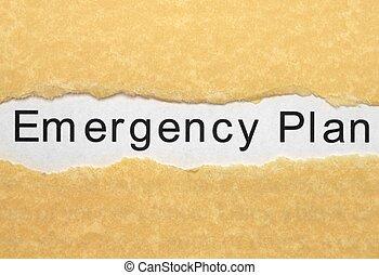 plano, emergência
