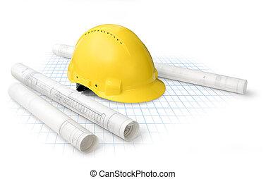 planos, construção