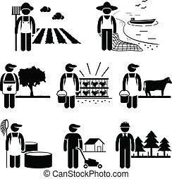 plantação, trabalho, agricultura, agricultura