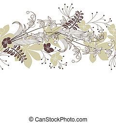 plantas, patten, flores, seamless, floresta