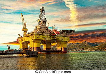 plataforma óleo