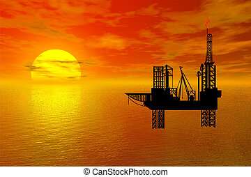 platfor, oil-drilling