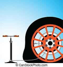 pneu vazio
