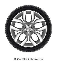 pneumático, caminhão, borracha, car, isolated., pneu