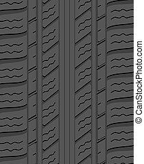 pneumático, padrão, borracha, vetorial, experiência preta