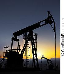 poço, bomba óleo