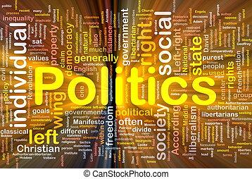 política, glowing, conceito, fundo, social