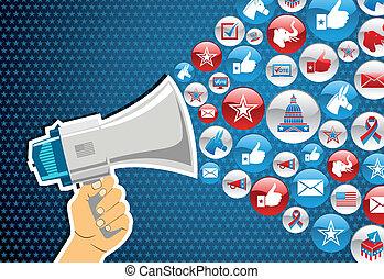 política, mensagem, elections:, promoção, nós