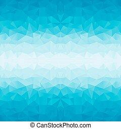 polygonal, experiência azul
