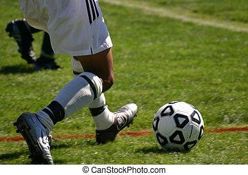 pontapé, futebol