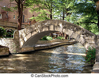 ponte, sobre, rio