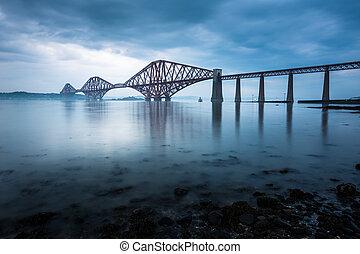 pontes, para a frente, escócia, edimburgo