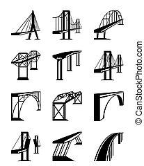 pontes, vário, perspectiva