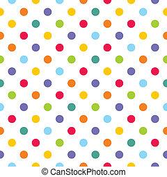 pontos, padrão, coloridos, vetorial, polca