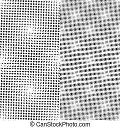 pontos, padrão, seamless, (vector)