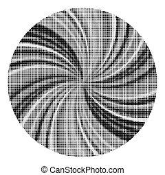 pontos, texture., experiência., branca, halftone, círculo