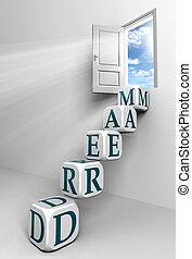 porta, conceitual, sonho