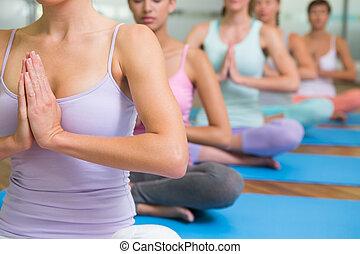 pose, classe ioga, loto, condicão física, estúdio