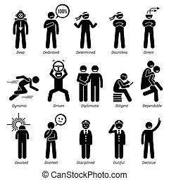 positivo, características, personagem