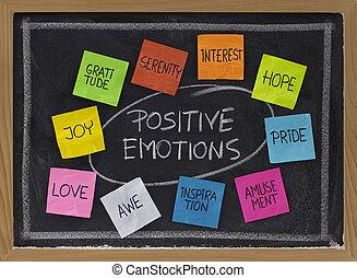 positivo, dez, emoções