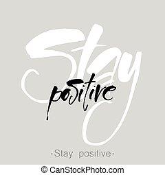 positivo, ficar