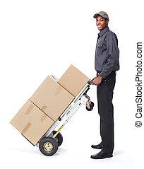 postman., africano-americano