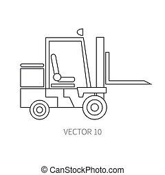 power., textura, wallpaper., road., construção, forklift., business., engineering., ícone, vetorial, linha, apartamento, desenho, edifício., style., seu, diesel., maquinaria, industrial, ilustração, machinery.