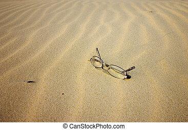 praia, óculos