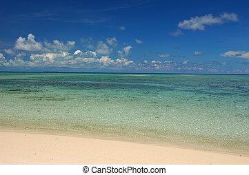 praia branca, arenoso
