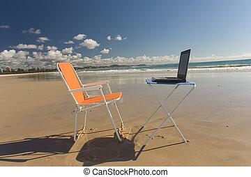 praia, escritório