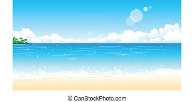 praia, idyllic