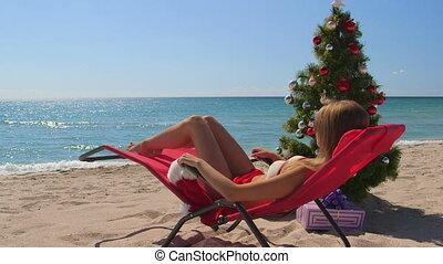 praia, natal, fundo, feriados