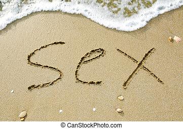 praia, sexo