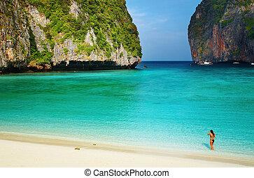 praia, tailandia, tropicais