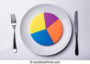 prato, branca, torta, coloridos, mapa