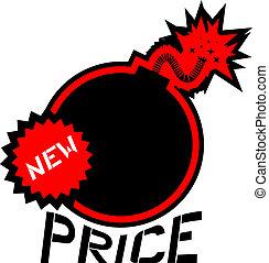 preço, bomba