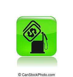 preço, isolado, ilustração, único, vetorial, combustível, ícone