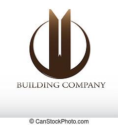 predios, logotipo, companhia