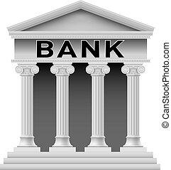 predios, símbolo, banco