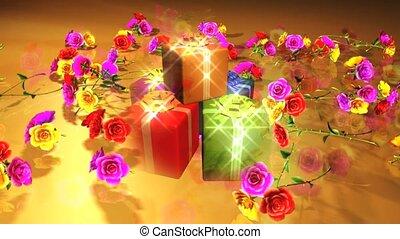 presentes, flores