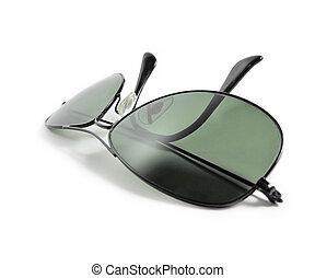 pretas, óculos de sol, aviador