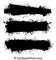 pretas, bandeira, tinta