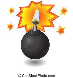 pretas, bomba