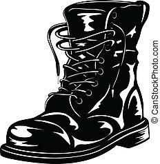 pretas, botina, exército
