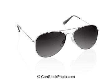 pretas, branca, óculos de sol