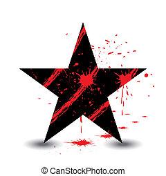 pretas, estrela, sangue