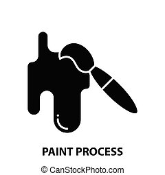 pretas, ilustração, sinal, editable, golpes, pintura, ícone, processo, vetorial, conceito